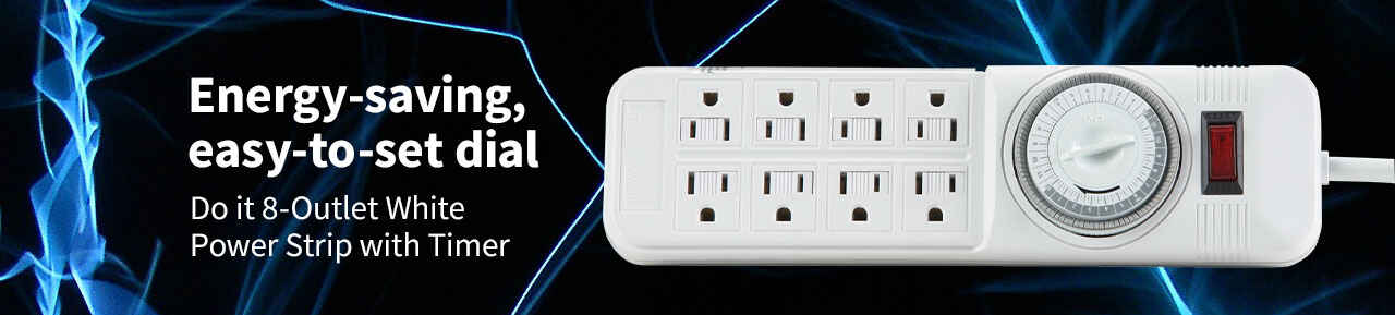 Do it 8-Outlet White Power Strip