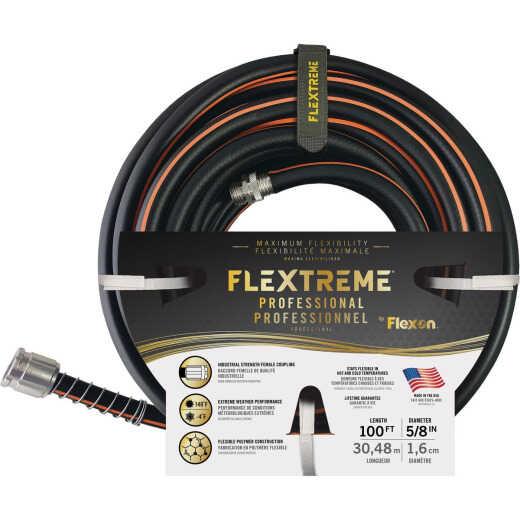 Flexon Flextreme 5/8 In. Dia. x 100 Ft. L. Garden Hose W/Kink-Stop